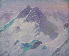 Lucien LEVY DHURMER 1865 - 1953 PAYSAGE DE SAVOIE- Circa 1925 Pastel sur carton