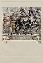 Frantisek KUPKA 1871 - 1957 LE CHAR, ILLUSTRATION POUR LES ERINNYES DE LECONTE DE LISLE - Circa 1906-1908 Aquarelle et crayon sur pa...