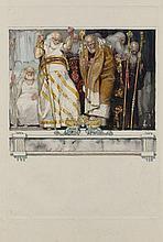 Frantisek KUPKA 1871 - 1957 LES VIEILLARDS, ILLUSTRATION POUR LES ERINNYES DE LECONTE DE LISLE - Circa 1906-1908 Aquarelle, mine de...