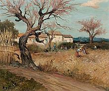 Marcel Dreyfus DYF 1899 - 1985 MAS EN PROVENCE (ENVIRONS DE CANNES) Huile sur toile