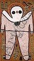 KARADADA LILY (PITJARINTJIN) (née en 1937) WANDJINA (RAIN SPIRIT), 1998 Peinture à l'ocre sur toile