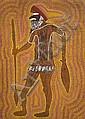 TJUPURRULA TURKEY TOLSON (PINTUPI) (circa 1943 - 2001) GUERRIER MITUKATJIRRI / MITUKATJIRRI WARRIOR, 1996 Acrylique sur toile (Belgi...