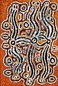NAKAMARRA BESSIE SIMS (Warlpiri) (née vers 1932) LE REVE DE LA FOURMI VOLANTE / FLYING ANT DREAMING (PAMAPARDU JUKURRPA), 2009 Acryl...