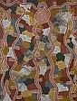 TJAMPITJINPA DINNY NOLAN (ANMATYERRE) (né en 1923) REVE DE PLUIE / RAIN DREAMING, 1989 Acrylique sur toile (Belgian linen)