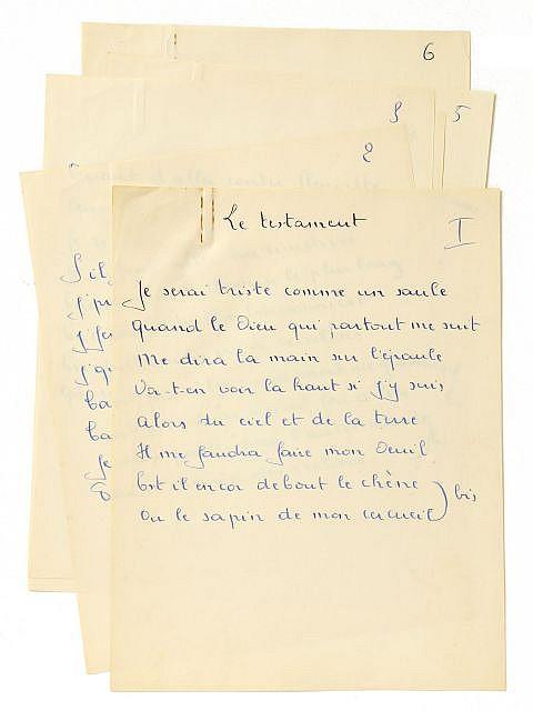 Georges BRASSENS  Le Testament