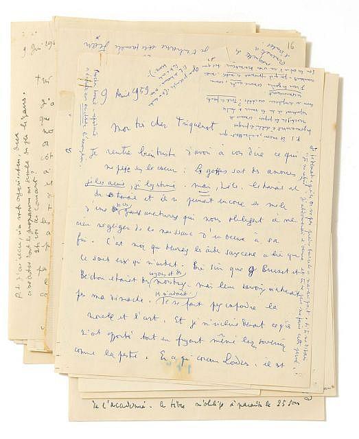 Jean COCTEAU  Correspondance inédite avec Jean Triquenot, 1957-1963