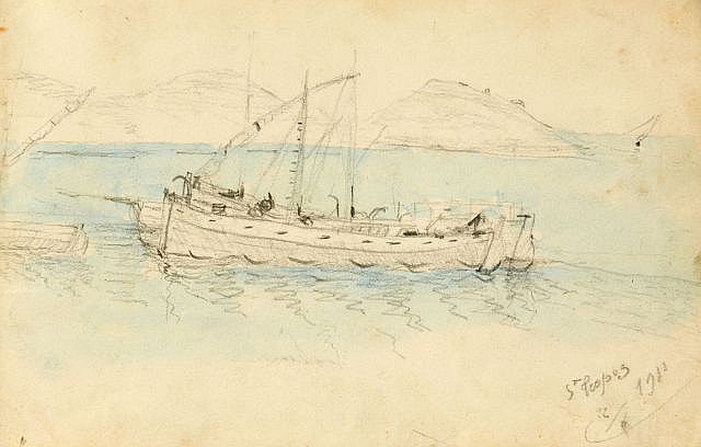 Alfred COURMES  Carnet de dessins, 1911