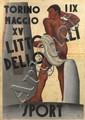 [AFFICHE - ITALIE]  Littoriali dello Sport, 1937