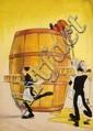 [Jacques SAIGNIER] JAC [Biere] Verre de bière géant et serveurs Projet original d'affiche, 100 ...