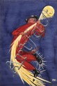 [Jacques SAIGNIER] JAC [Cirage] Groom accroché à la lune Projet original d'affiche, 92 x 63 cm....