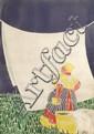 [Jacques SAIGNIER] JAC [Lessive] Lingère devant drap étendu Projet original d'affiche, 92 x 66....