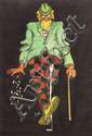 [Jacques SAIGNIER] JAC [Cigarettes] Clown aux cigarettes Projet original d'affiche, 65,5 x 91,5...
