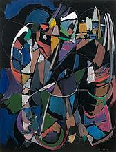 André LANSKOY (1902 - 1976) SANS TITRE Gouache sur papier