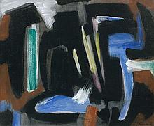 Gérard SCHNEIDER (1896 - 1986) OPUS 12B - 1952 Huile sur toile