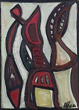 Jean-Michel ATLAN (1913-1960) SANS TITRE - 1955 Huile sur toile