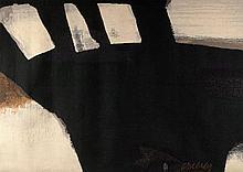 Pierre SOULAGES (Né en 1919) TAPISSERIE D'APRES PEINTURE 97 x 130 CM, 31 JUILLET 1965 - Circa 1970 Tapisserie tissée par l'atelier C.