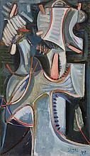 Olivier DEBRE (1920 - 1999) SIGNE, MUSICIEN - 1948 Huile sur toile