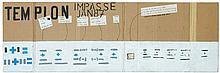 Lawrence WEINER (Né en 1942) MAQUETTE STONES + STONES - 1987 Gouache, crayon, encre et collage sur carton