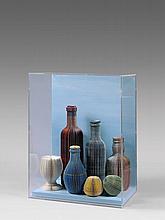PAVLOS (Né en 1930) BAR - 1995 Papiers massicotés sur panneau dans un emboîtage en plexiglas