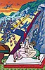 Gudmundur ERRO (Né en 1932) LE TRAIN DE BOMBAY - 1978 Peinture glycérophtalique sur toile,  Erro, €10,000