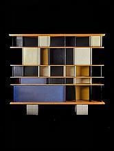 Charlotte PERRIAND (1903-1999) Bibliothèque dite « Maison du Mexique » - 1952 Piètement original en béton, recouvert de céramique et...