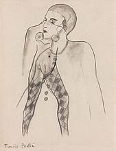 Francis PICABIA (1879 - 1953) FEMME ACROBATE - TRANSPARENCE - Circa 1928-1929 Crayon sur papier