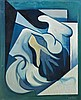 Arturo CIACELLI (1883 - 1966) TACTILISME - 1930 Huile sur carton