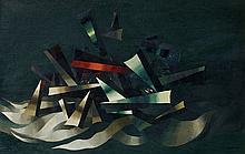 Georges PAPAZOFF (1894 - 1972) COMPOSITION - 1931 Huile sur toile