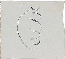 Jean FAUTRIER (1898 - 1964) TORSE, Circa 1944-1945 Encre de chine et lavis d'encre sur papier