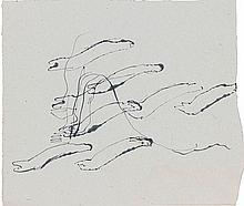 Jean FAUTRIER (1898 - 1964) SANS TITRE - Circa 1944 Encre sur papier