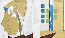 André BEAUDIN (1895 - 1979) LA FLEUR BLEUE - 1948 Huile sur toile
