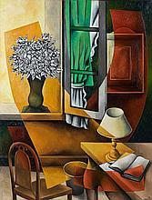 Georges BAUQUIER (1910 - 1997) LUMIERE OCRE - 1958 Huile sur toile