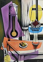 Georges BAUQUIER (1910 - 1997) L'HORLOGE, 1ER ETAT - 1956-1957 Huile sur toile