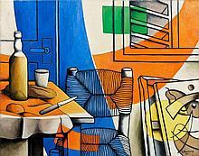 Georges BAUQUIER (1910 - 1997) LA FENÊTRE, 2EME ETAT - 1957 Huile sur toile