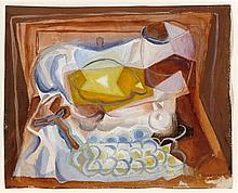 Juan GRIS 1887 - 1927 NATURE MORTE - Circa 1926 Gouache sur papier
