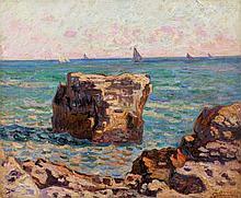Armand GUILLAUMIN 1841 - 1927 SAINT-PALAIS, LA PIERRIERE - Circa 1902 Huile sur toile