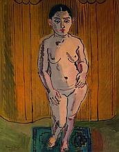 ¤ Raoul DUFY 1877 - 1953 NU SUR FOND JAUNE - 1930 Huile sur toile