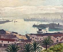 Albert MARQUET 1875 - 1947 PORT DE L'AGHA Circa 1941-1942 Huile sur toile