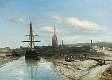 Johan Barthold JONGKIND 1819 - 1891 HARFLEUR - Circa 1850 Huile sur toile