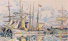 Paul SIGNAC 1863 - 1935 SAINT-MALO, LES TERRENEUVAS - 1927 Aquarelle et crayon sur papier