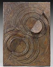 Robert DELAUNAY 1885 - 1941 RELIEF DE BRONZE N°1 - 1936-1937 Bronze à patine dorée