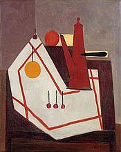 Oscar DOMINGUEZ 1906 - 1957 NATURE MORTE A LA CAFETIERE - 1950 Huile sur toile