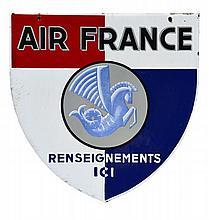 AIR FRANCE  Plaque émaillée double face