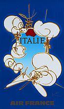Georges MATHIEU (1921-2012)  Air France - Italie
