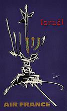 Georges MATHIEU (1921-2012)  Air France - Israel