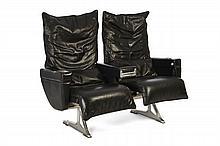 HUREL-DUBOIS  Paire de fauteuils
