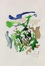 ZAO WOU- KI (1920 - 2013) SANS TITRE - 1995 Aquarelle et encre de couleur sur papier