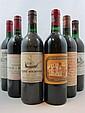 8 bouteilles 1 bt : CHÂTEAU LEOVILLE LAS CASES 1985 2è GC Saint Julien (légèrement bas, étiquette tachée)