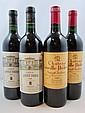4 bouteilles 2 bts : CHÂTEAU LEOVILLE POYFERRE 1988 2è GC Saint Julien (étiquettes fanées)