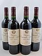 4 bouteilles 2 bts : CHÂTEAU SOCIANDO MALLET 1995 CB Haut Médoc (étiquettes léger tachées)